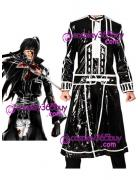 D.Gray-man Kanda Yuu cosplay costume shining puleather made
