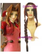 Final Fantasy Aeris Gainsborough long Cosplay Wig