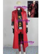 Devil May Cry IV 4 Dante Cosplay Costume nice synthetic leat...