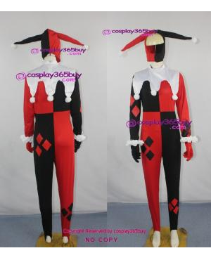 Batman Harley Quinn cosplay costume include the gloves and eye mask